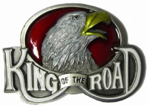 King of the Road Eagle Belt Buckle + display stand. Code BD7